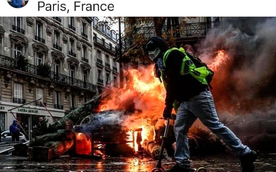 Gli scontri di Parigi raccontati attraverso le immagini su Instagram
